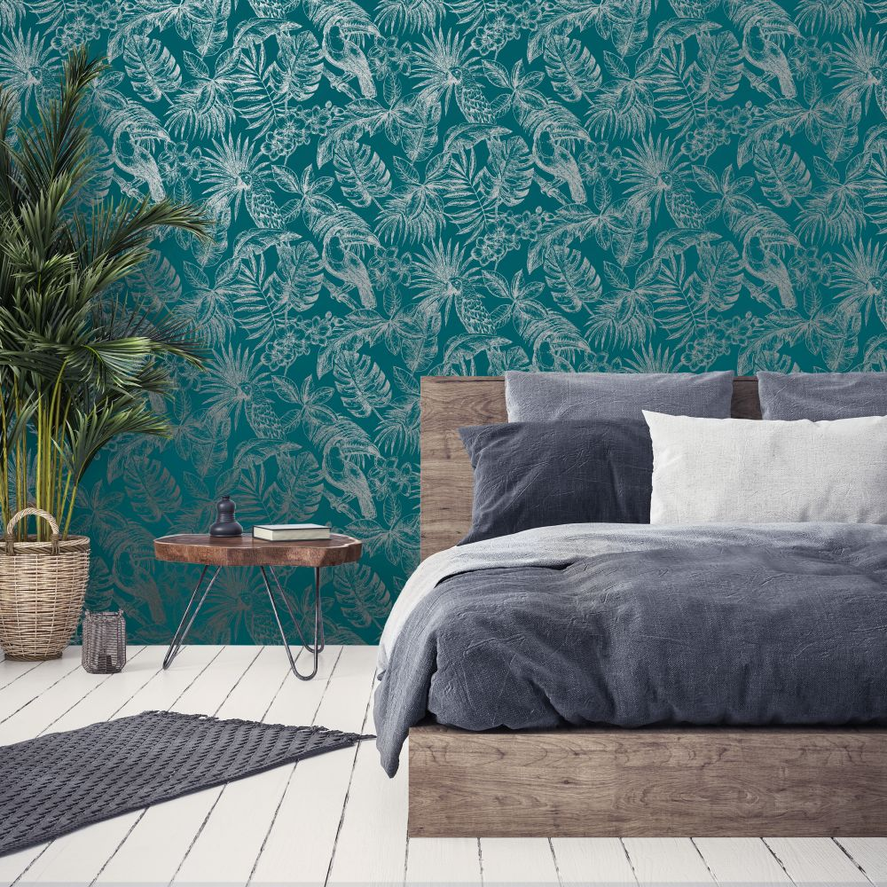 Albany Sankuru Teal Wallpaper - Product code: L70701