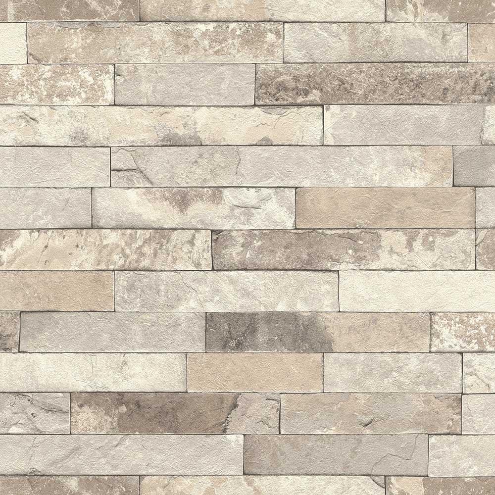 Albany Granite Brick Grey Wallpaper - Product code: 475159