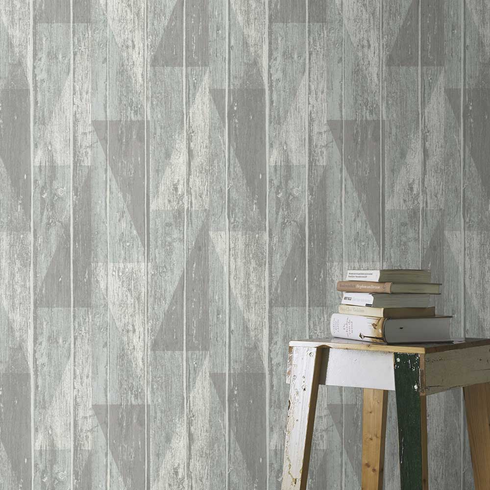 Geo Decking Wallpaper - Blue - by Albany