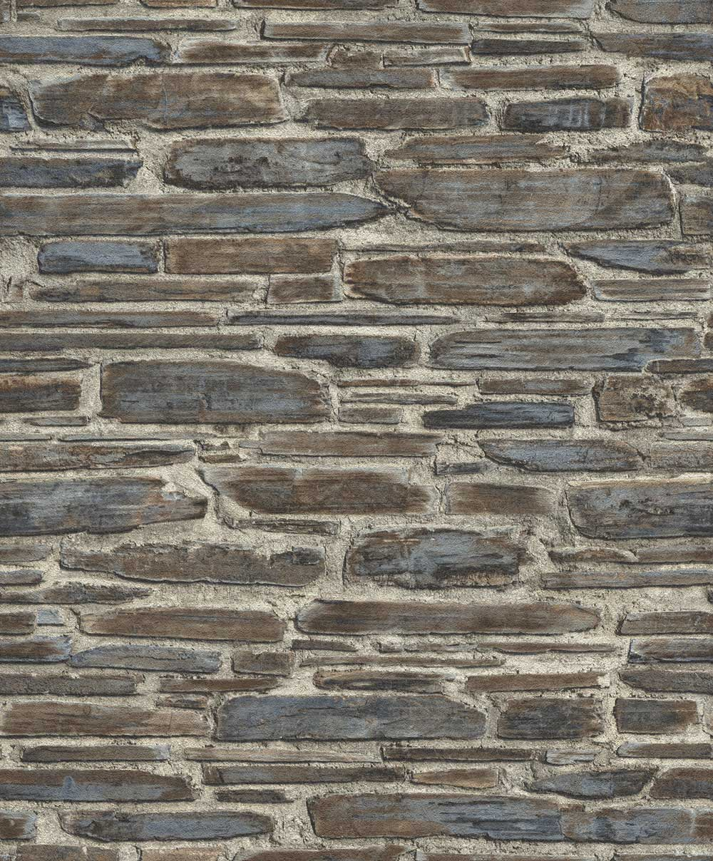 Albany Brick Effect Brown / Blue Wallpaper - Product code: 863420