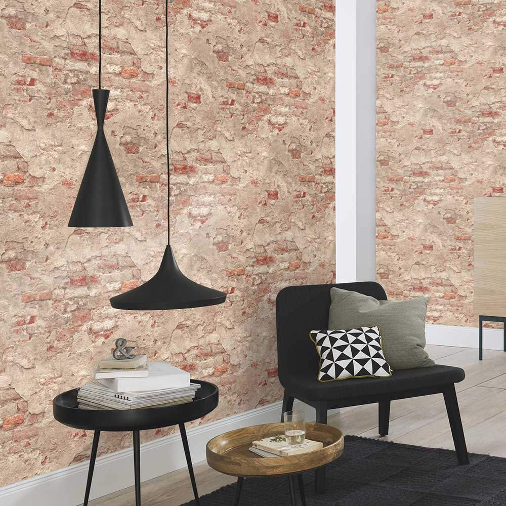 Albany Rustic Wall Grey Wallpaper - Product code: 939323