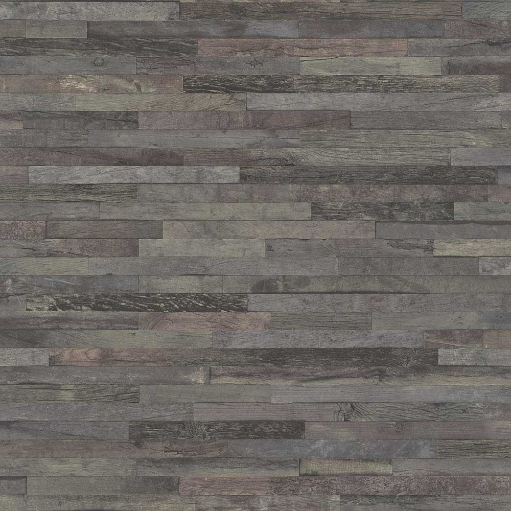 Albany Fine Wood Effect Charcoal Grey Wallpaper - Product code: 939828