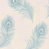 Albany Viola Teal Blue Wallpaper - Product code: 40914