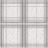 Arthouse Woven Check Grey / White Wallpaper - Product code: 903102