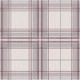 Arthouse Woven Check Red / Cream Wallpaper - Product code: 942301