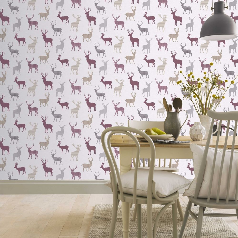 Arthouse Country Stag Red / Cream Wallpaper - Product code: 942401