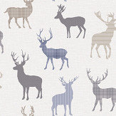 Arthouse Country Stag Blue / Grey Wallpaper - Product code: 942402