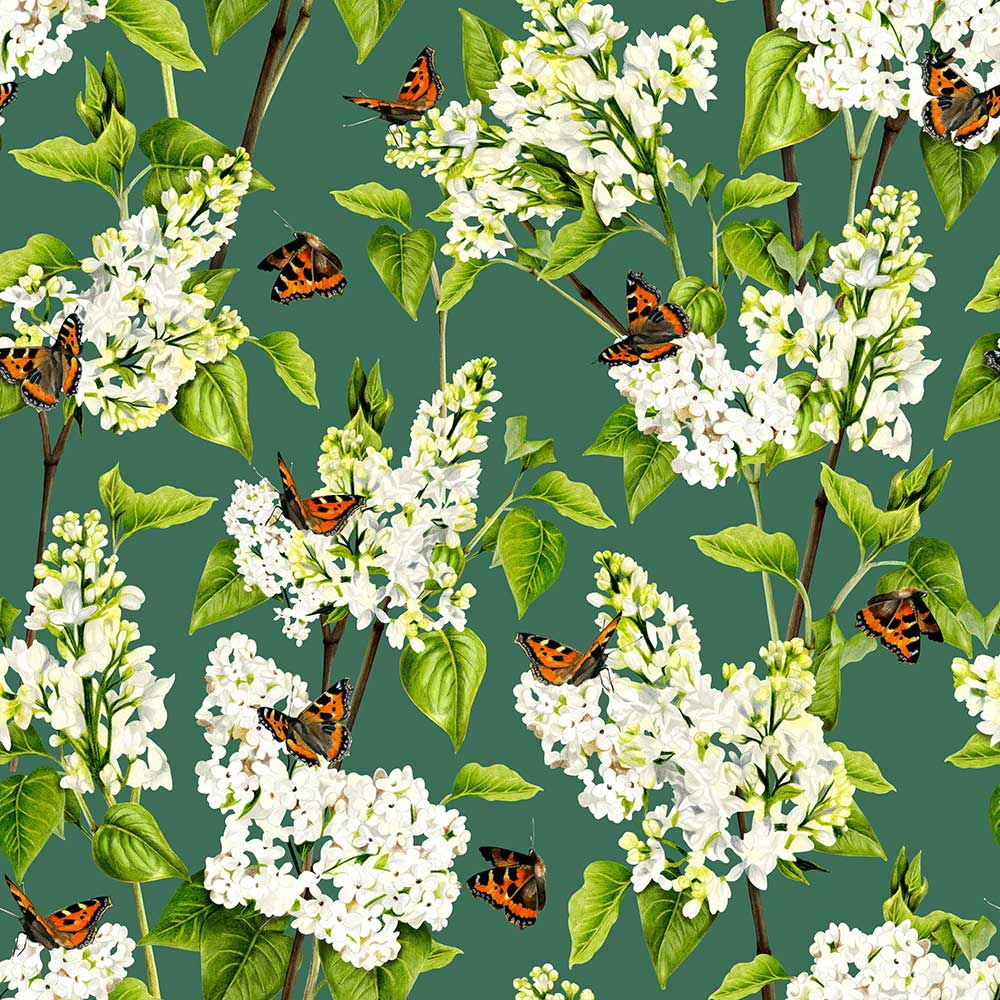 Isabelle Boxall White Lilac Forest Wallpaper - Product code: IB5001