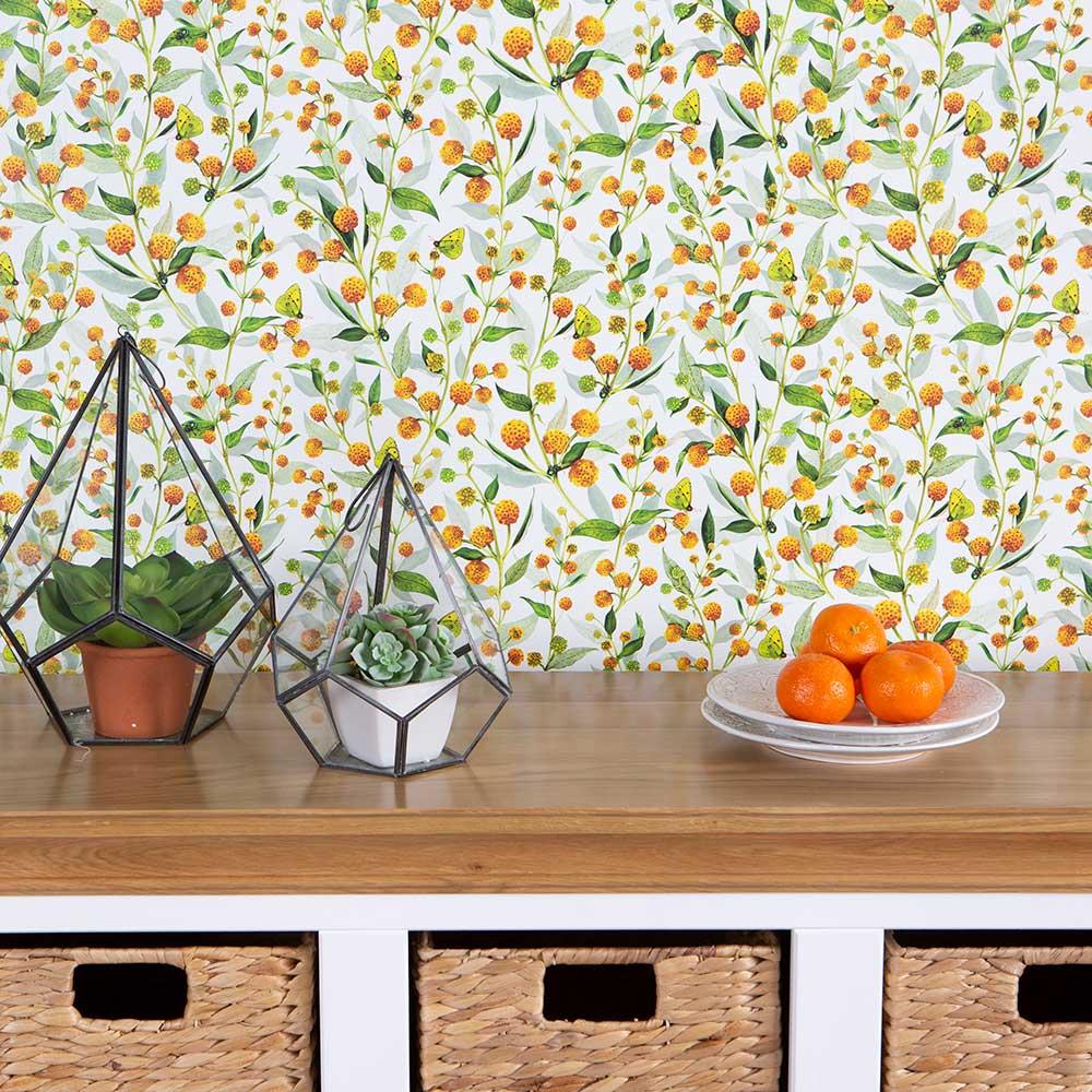 Isabelle Boxall Globosa Orange Wallpaper - Product code: IB5002