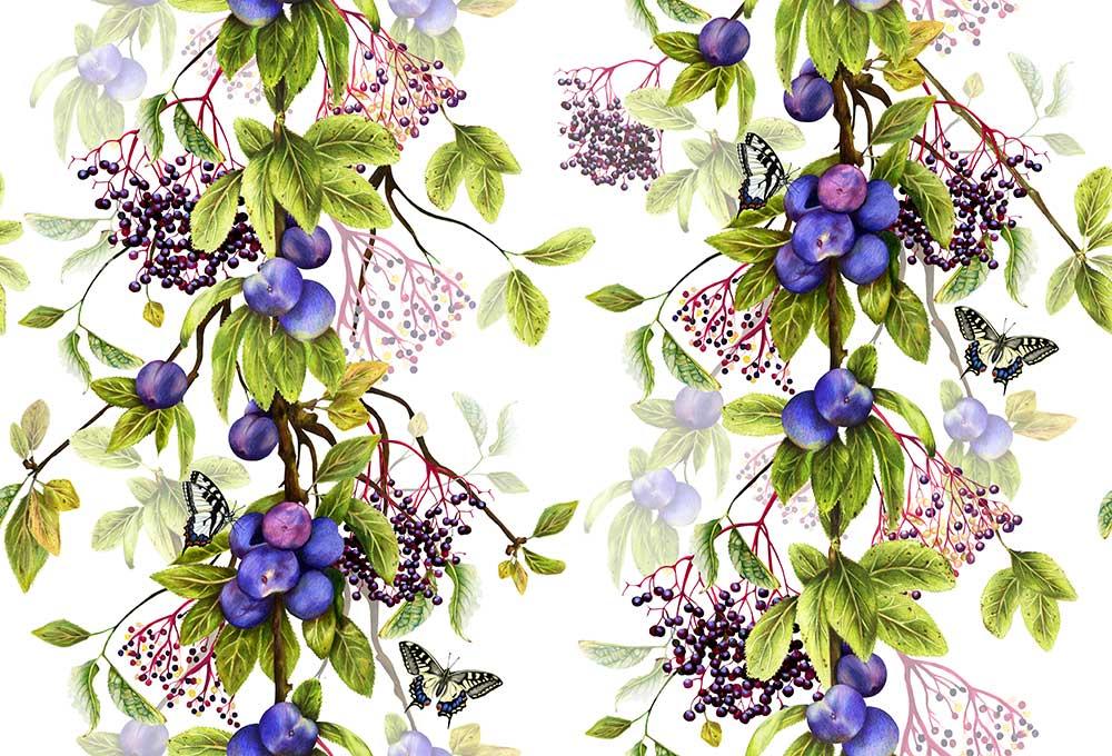 Isabelle Boxall Damson Wallpaper - Product code: IB5005