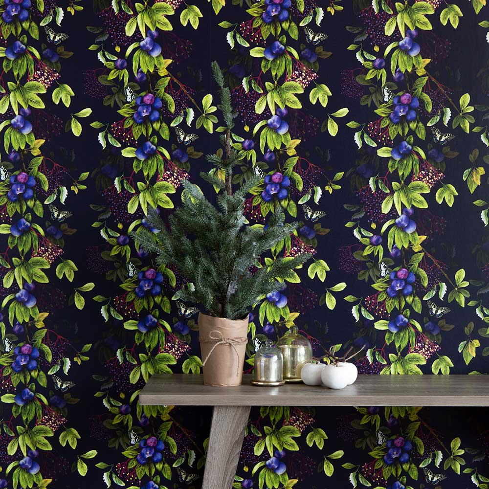 Damson Wallpaper - Nightshade - by Isabelle Boxall