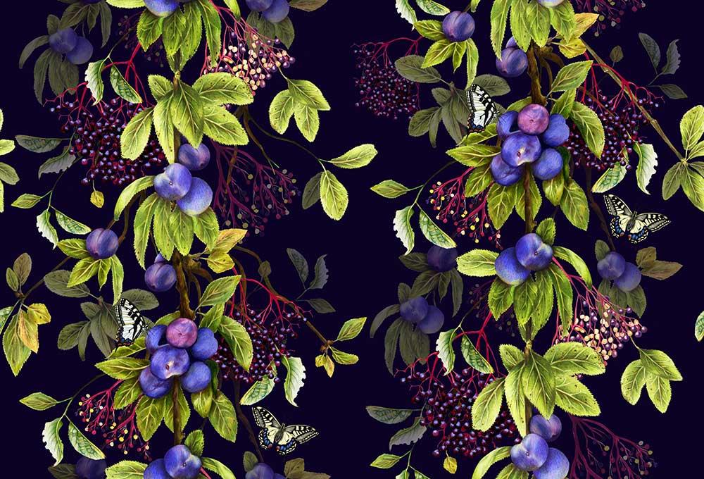 Isabelle Boxall Damson Nightshade Wallpaper - Product code: IB5007