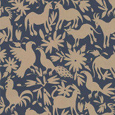 Andrew Martin Otomi Midnight Wallpaper - Product code: OT06 - MIDNIGHT