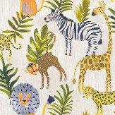 Grandeco Jungle Animals Multi-coloured Wallpaper - Product code: LO2201