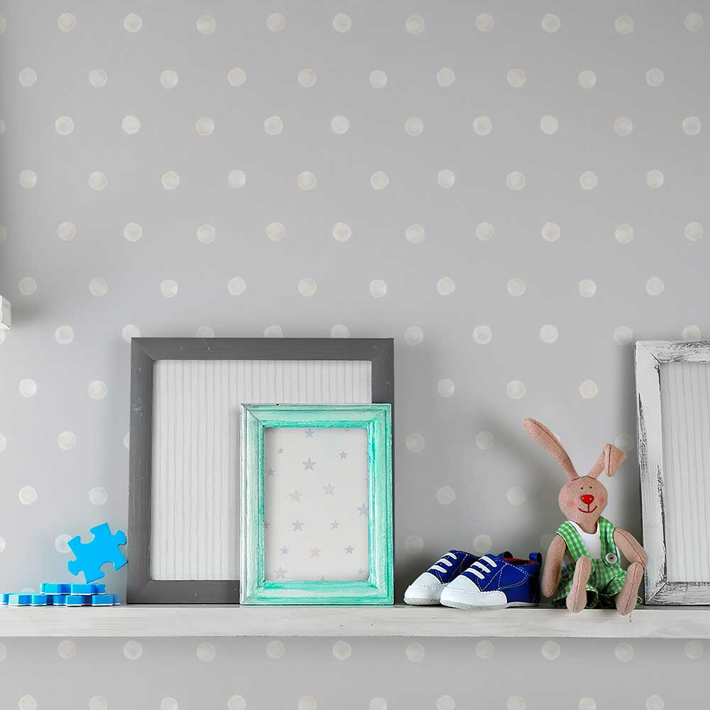 Grandeco Dotty Grey Wallpaper - Product code: LO2603