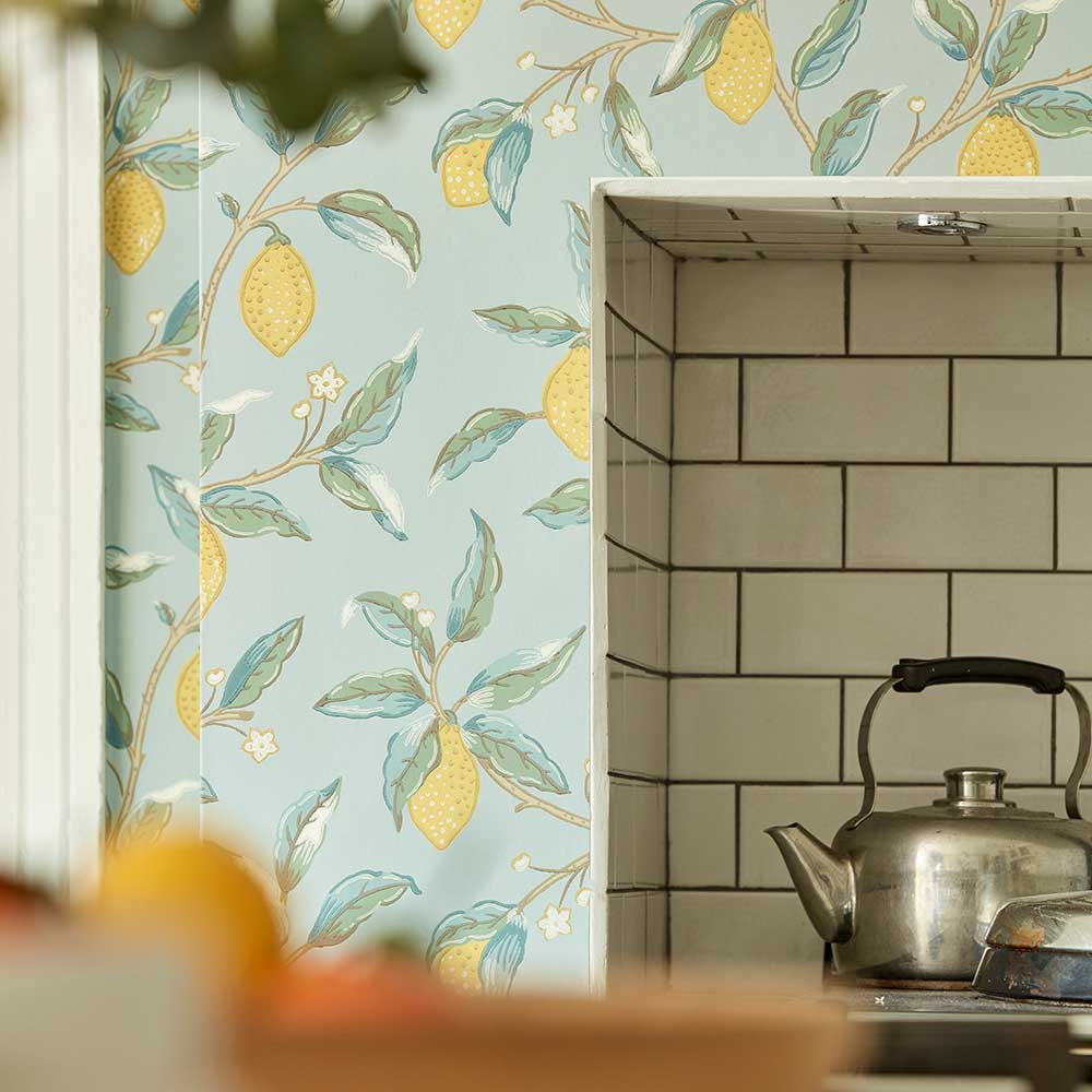 Morris Lemon Tree Wedgewood Wallpaper - Product code: 216674