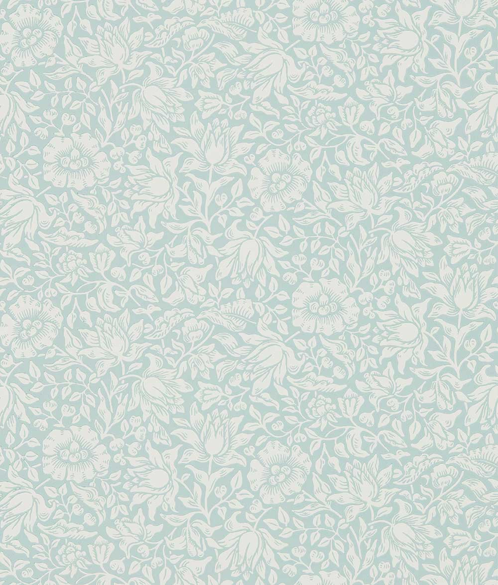Morris Mallow Chalk Duck Egg Wallpaper - Product code: 216679