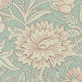 Morris Double Bough Teal Rose Wallpaper - Product code: 216680