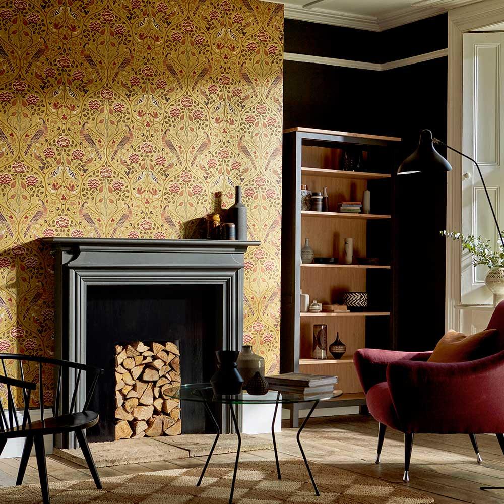 Seasons by May Wallpaper - Saffron - by Morris