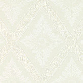 Sandberg Ludvig Cream / Green Wallpaper - Product code: 493-01