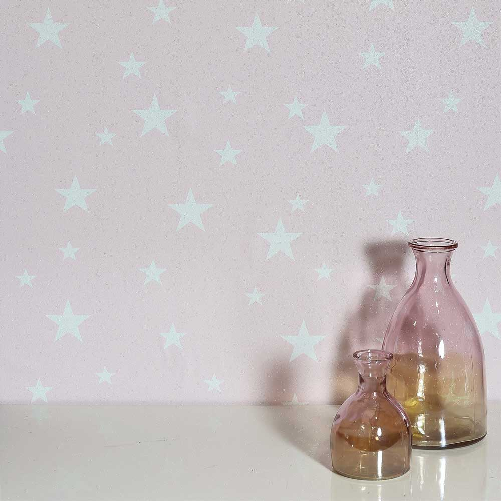 Diamond Stars Wallpaper - Blush - by Arthouse