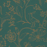 Morris Middlemore Moss Gold Wallpaper - Product code: 216695