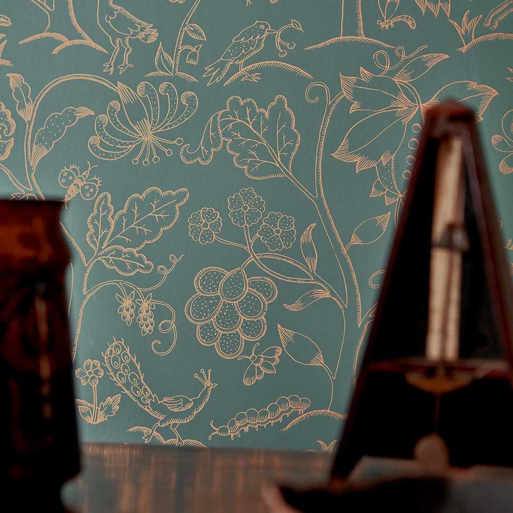 Morris Middlemore Moss Gold Wallpaper - Product code: 216695