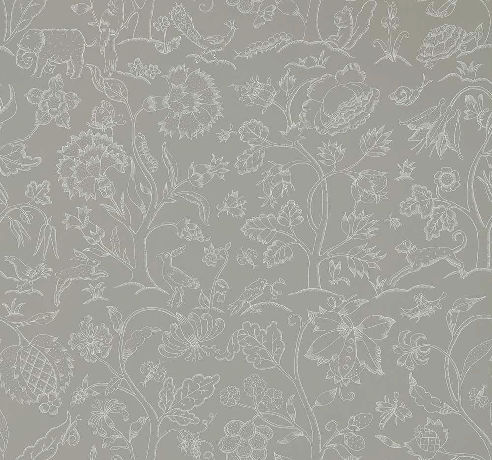Morris Middlemore Linen Chalk Wallpaper - Product code: 216697