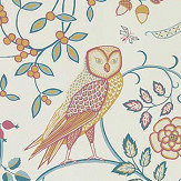 Morris Newill Indigo Saffron Wallpaper - Product code: 216703