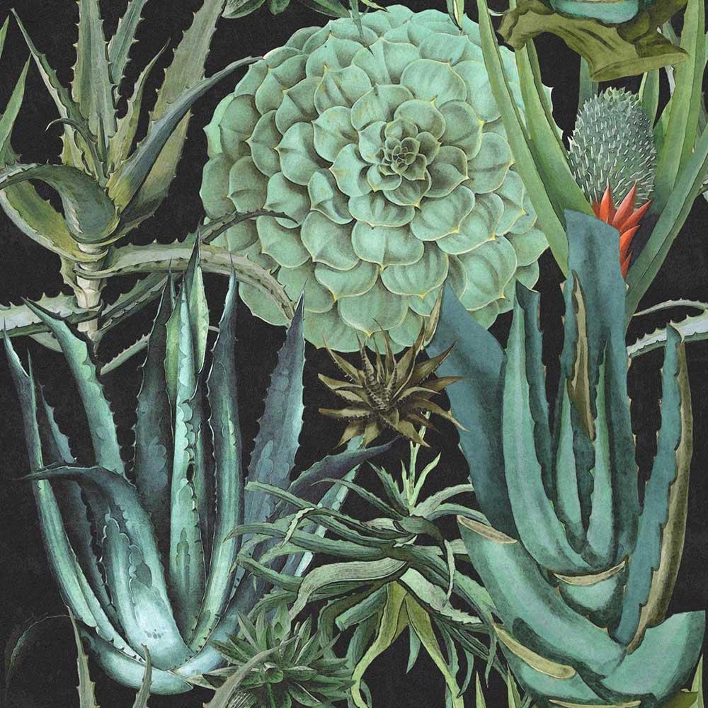 Mind the Gap Succulentus Blue / Green Mural - Product code: WP20167