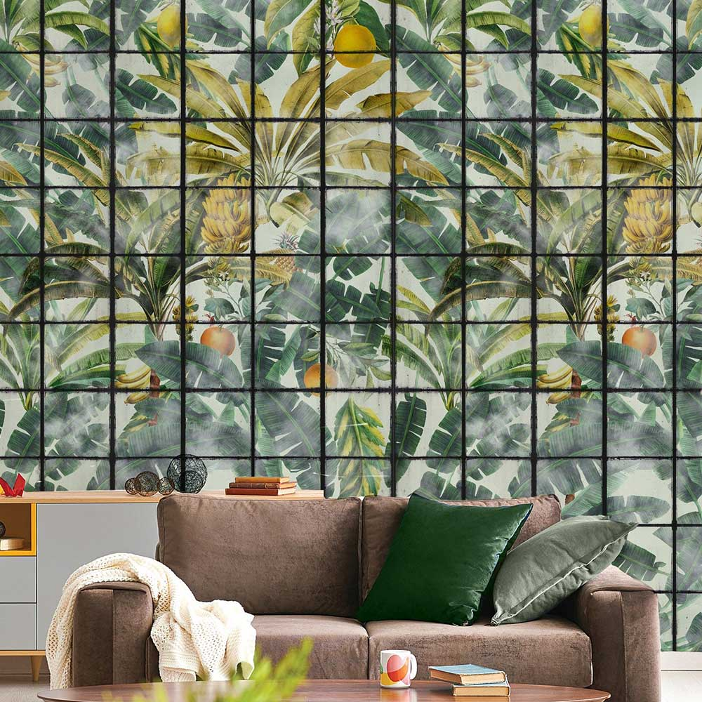 Mind the Gap Orangerie Green Mural - Product code: WP20176