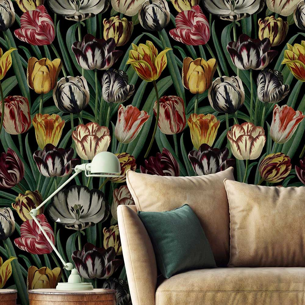 Mind the Gap Tulipa Multi-coloured Mural - Product code: WP20178