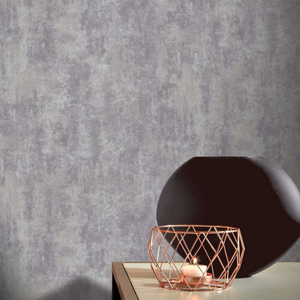 Stone Texture Wallpaper - Grey - by Arthouse