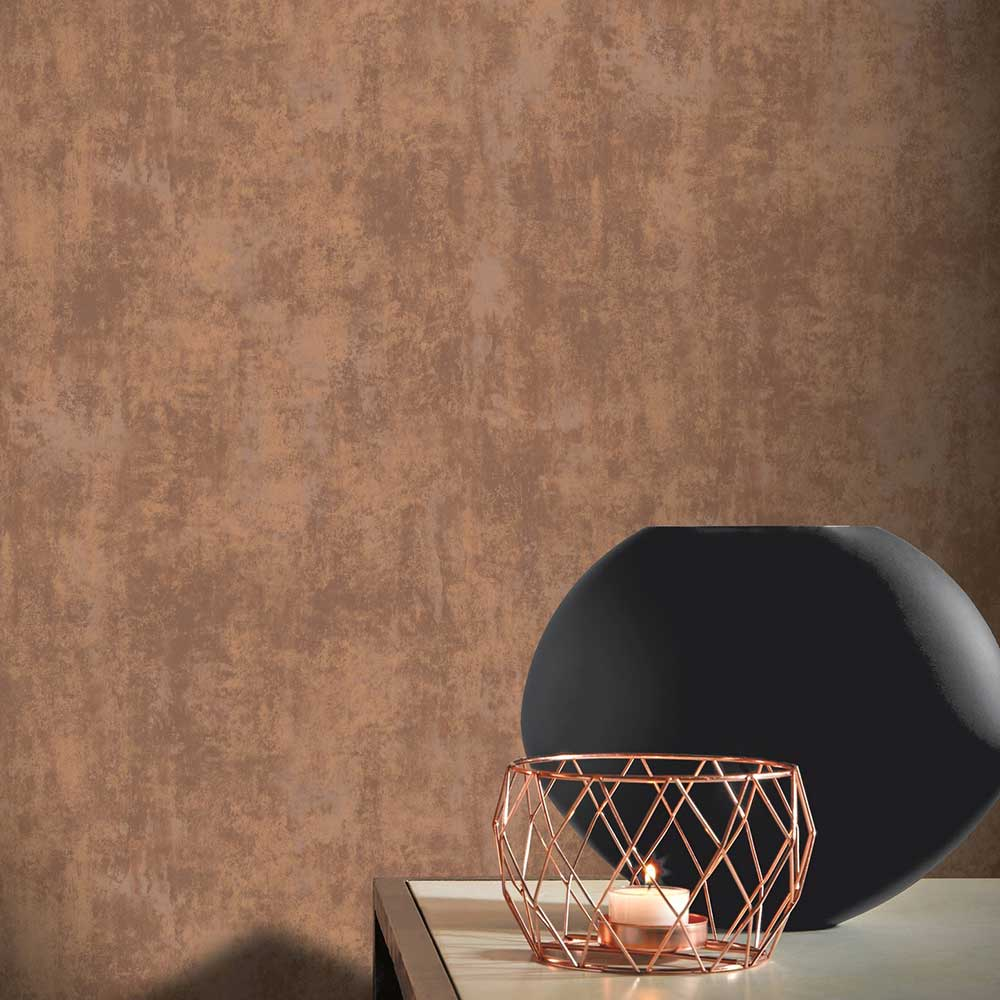 Arthouse Stone Texture Rust / Copper Wallpaper - Product code: 903900
