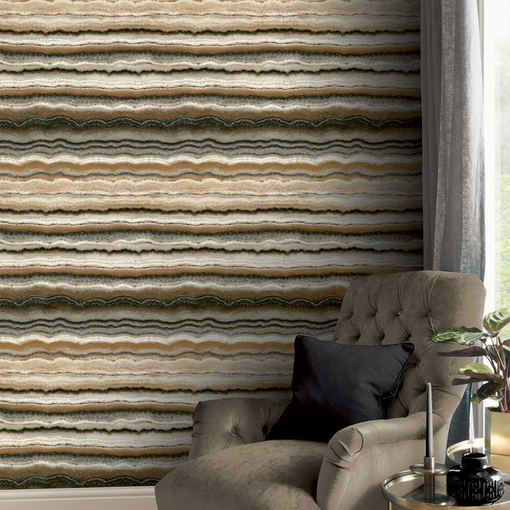 Arthouse Mineral Charcoal / Gold Wallpaper - Product code: 903906