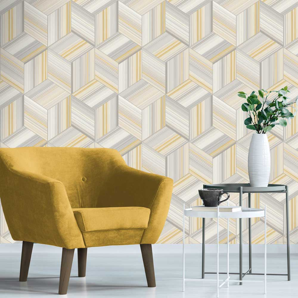 Albany Hudson Yellow Wallpaper - Product code: 9790