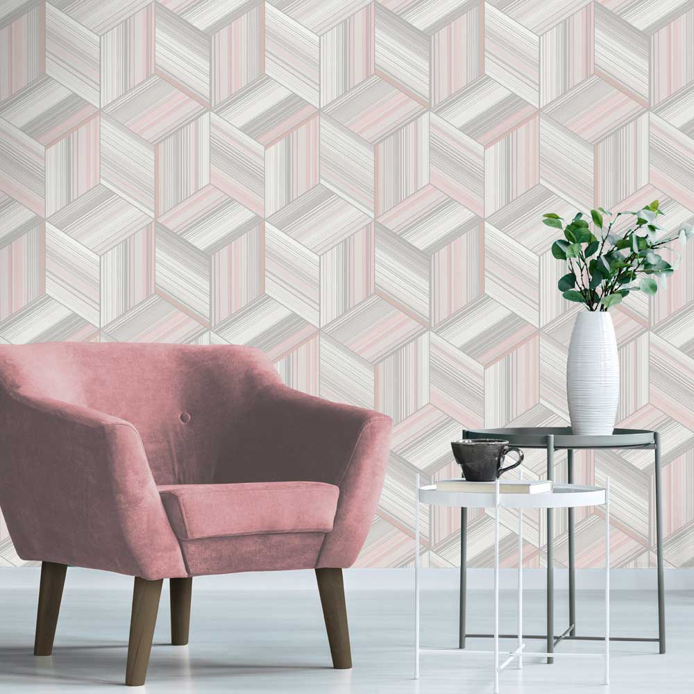 Albany Hudson Blush Wallpaper - Product code: 9791
