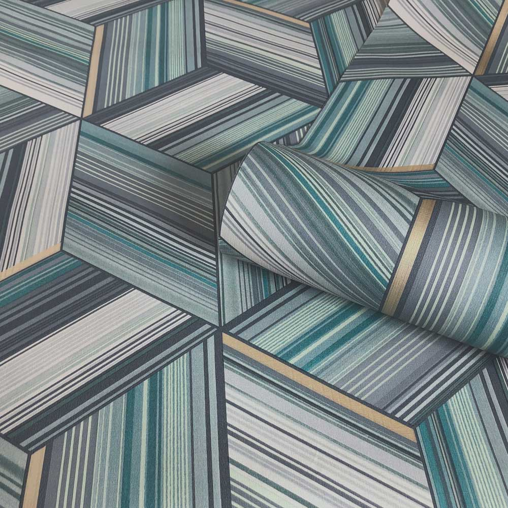 Albany Hudson Teal Wallpaper - Product code: 9793