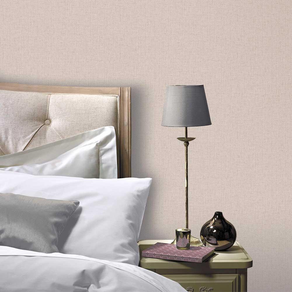 Arthouse Herringbone Tweed Natural Wallpaper - Product code: 942405