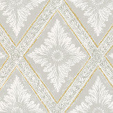 Sandberg Ludvig Grey / Gold Wallpaper - Product code: 493-31