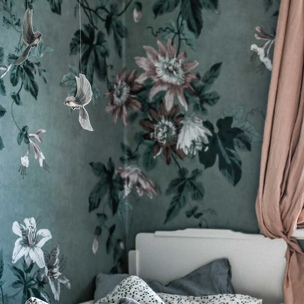 Sandberg Faded Passion Blue / Green Mural - Product code: 623-26