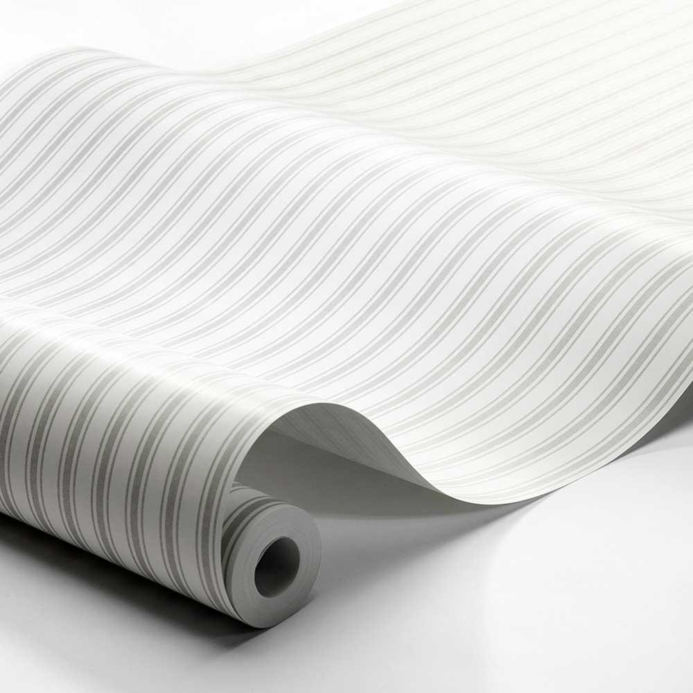 Boråstapeter Aspo Stripe Light Grey Wallpaper - Product code: 8872