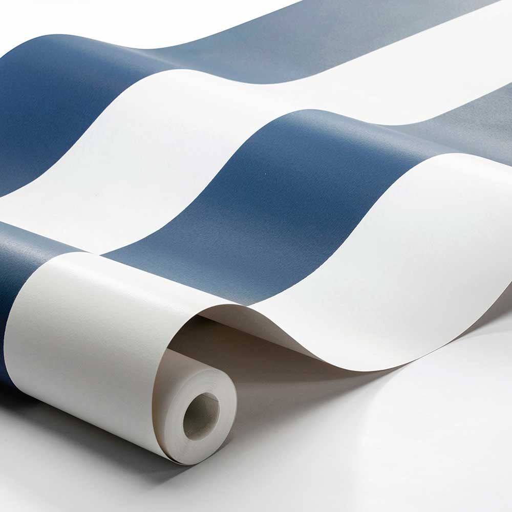 Boråstapeter Orust Stripe Dark Blue Wallpaper - Product code: 8878
