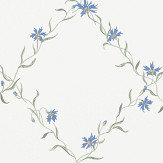 Sandberg Ewa White / Blue Wallpaper - Product code: 806-56