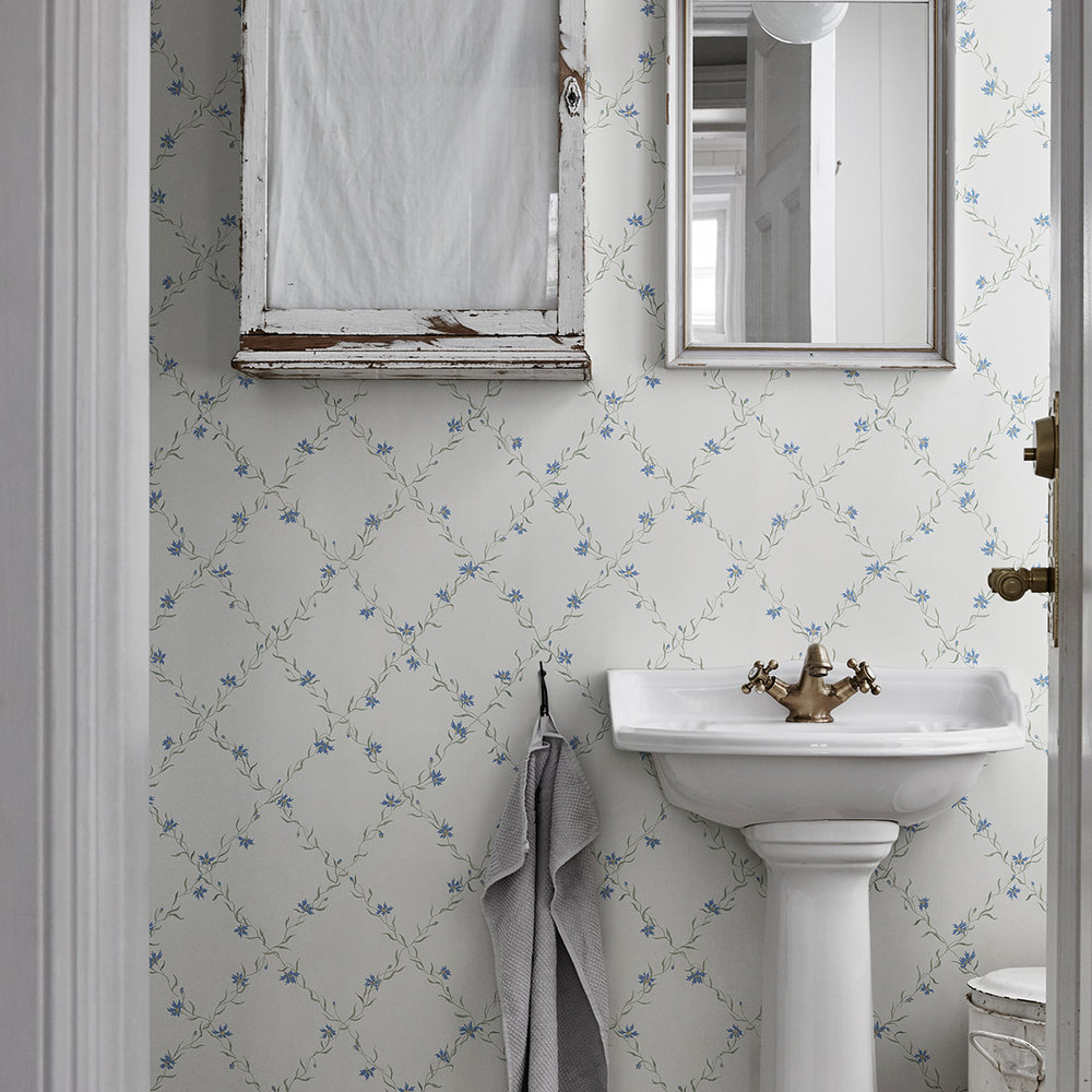 Sandberg Ewa White / Blue Wallpaper - Product code: 806-56