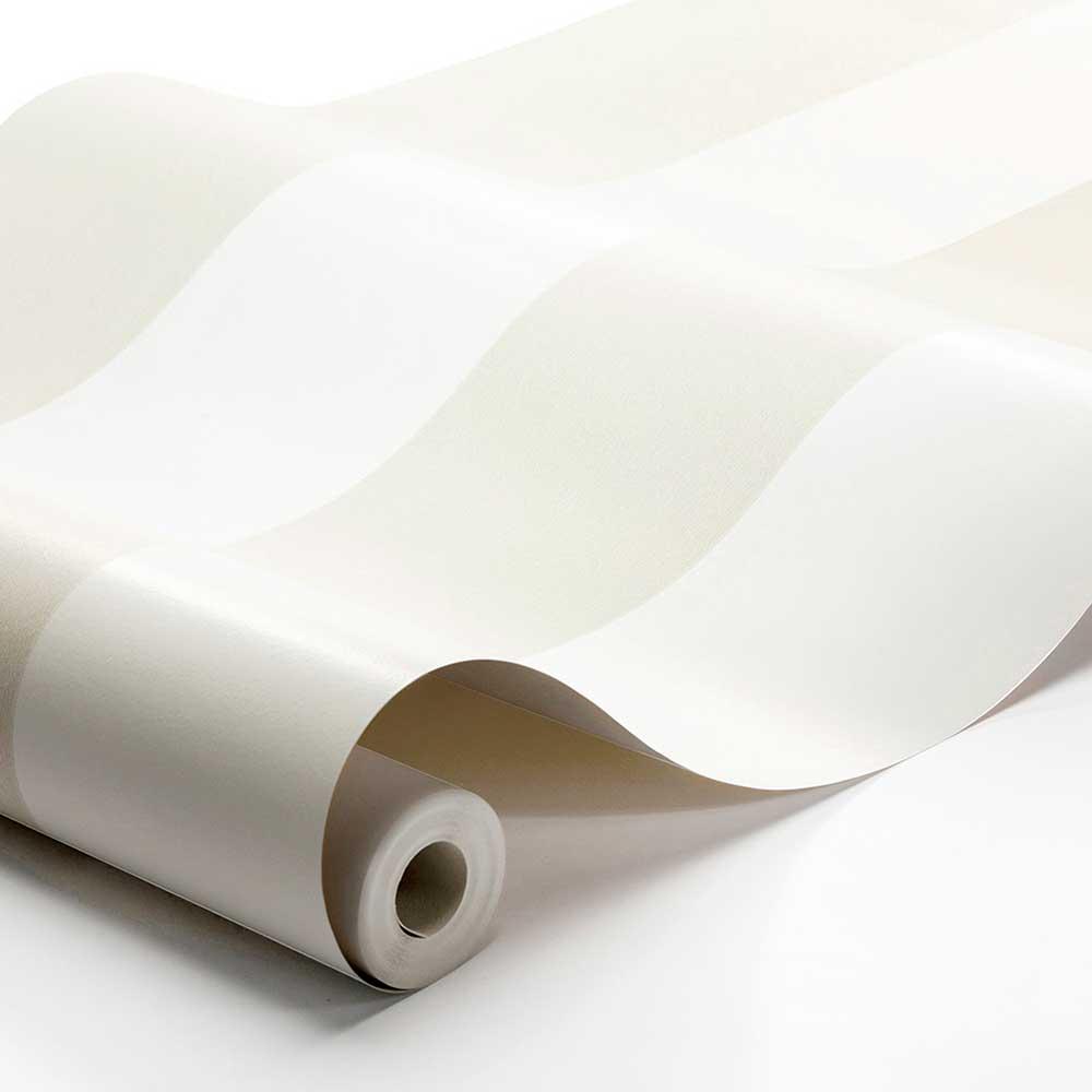 Orust Stripe Wallpaper - Beige - by Boråstapeter
