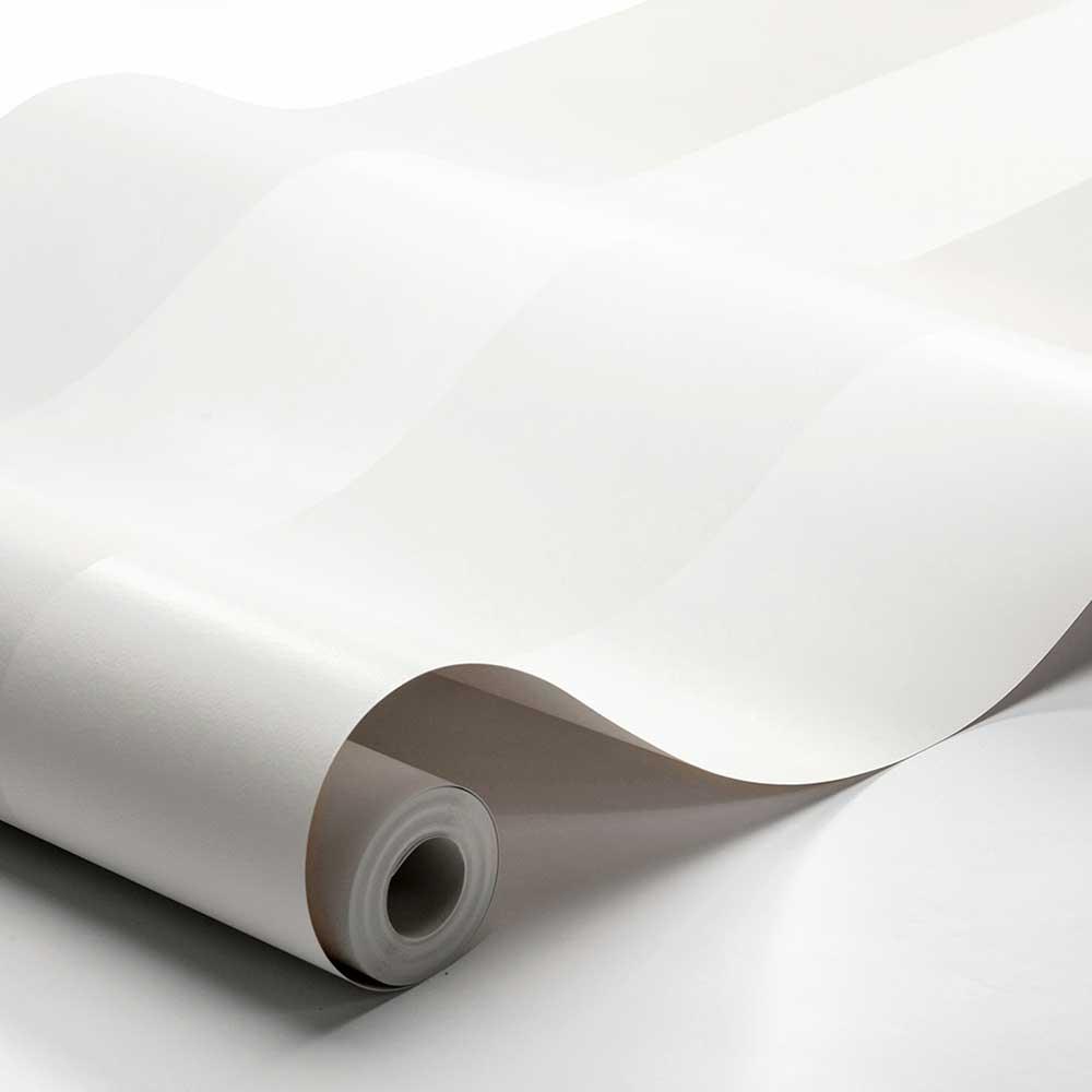 Orust Stripe Wallpaper - White - by Boråstapeter