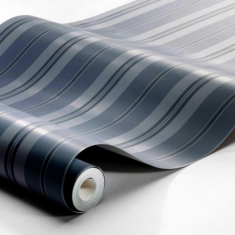 Sandhamn Stripe Wallpaper - Blue  - by Boråstapeter