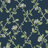 Boråstapeter Honeysuckle Blue Wallpaper - Product code: 8851
