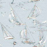 Boråstapeter Sailboats Light Blue Wallpaper - Product code: 8854